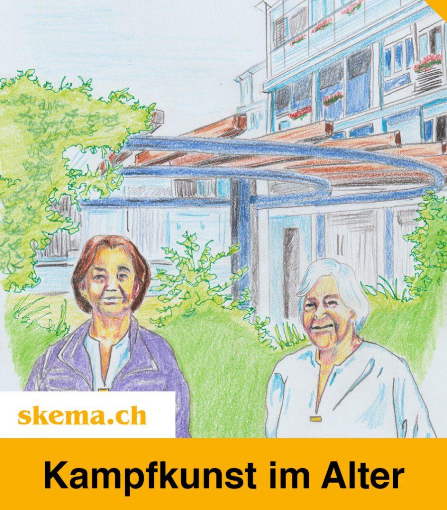 """Kampfkunst im Alter - Projektthema """"Kampfkunst"""" im Altersheim Rotmonten, St. Gallen"""