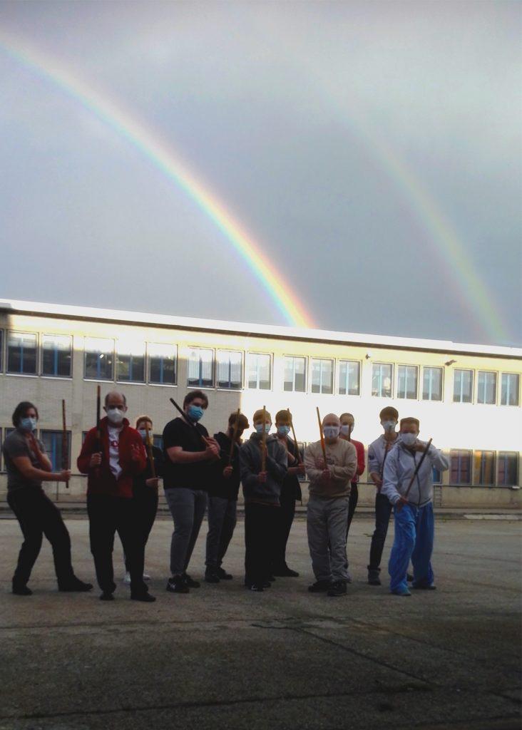 Outdoor-Training (Selbstverteidigung) der SKEMA Kampfkunstschule Basel im Mai 2020